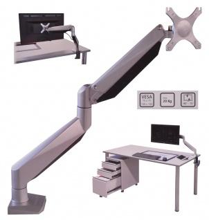 Isel® Alu Monitor Tisch Halterung bis 20 Kg / 42 Zoll inkl USB Port Schwenkarm