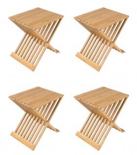 4x Bambus Klapphocker Partyhocker Gästestuhl