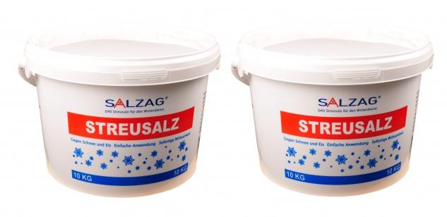 2x 10kg Streusalz im Eimer Auftausalz Strassensalz Tausalz Streumittel Steinsalz