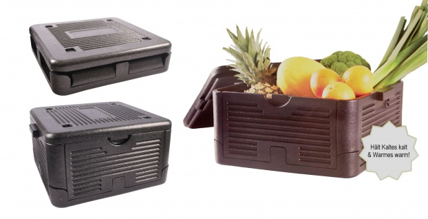 Faltbare Thermobox 18L Kühlbox Thermobehälter Pizzabox Isolierbox Warmhaltebox