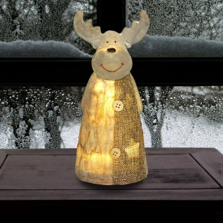 LED-Rentier 20cm Elch Hirsch Weihnachtsdeko Leuchtdeko Tierfigur Advent Winter