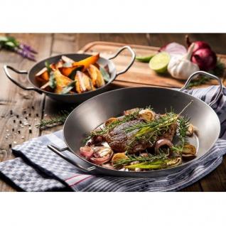 Eisenpfanne 28, 5cm rustikal Bratpfanne Schmorpfanne Steakpfanne Paella Induktion