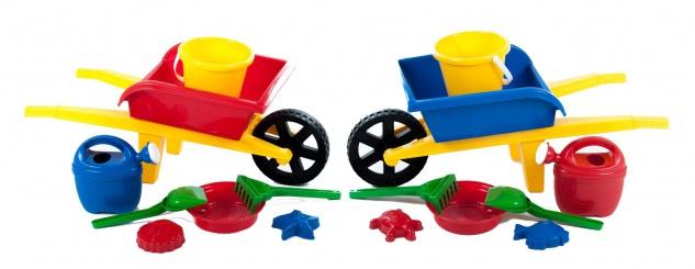 Sandkastenspielzeug Gartenspielzeug Schubkarre Eimer Sandformen Schaufel 7er-Set
