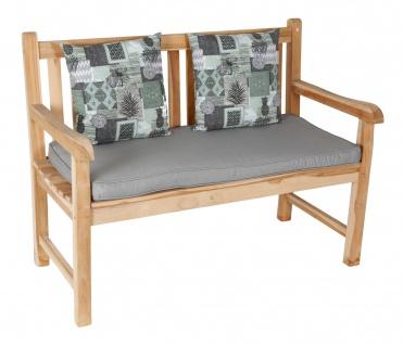 Gartenbank Auflagenset 111x51cm Bankauflage mit 2 Kissen Bankkissen Sitzkissen