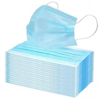 50 x Einmal-Mundschutz 3 lagig Mundschutzmaske Infektionsschutz Atemschutz