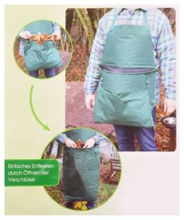 Grüner Jan Gartenschürze mit integriertem Abfallsack Gartenarbeit Beetpflege