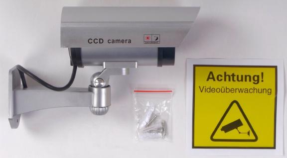 Überwachungskamera-Attrappe LED Dummy Fake Kamera Camera CCD außen und innen - Vorschau 3
