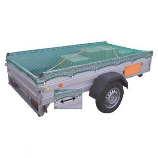 PKW-Anhänger-Schutznetz Gr.L + Spannseil Sicherungsnetz 350x180cm Abdecknetz