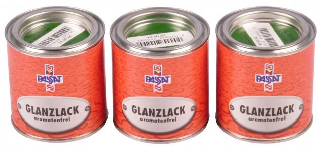 Passat Lack 3x 0, 25 L laubgrün glänzend RAL 6002 Metall Holz Glanzlack Decklack