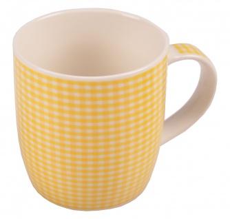 Kaffeetassen kariert aus Porzellan 375ml Kaffeebecher Kaffeetasse Teetasse Tasse - Vorschau 3