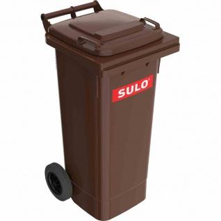 Kunststoff-Müllgroßbehälter braun 80 l MGB Kunststoff