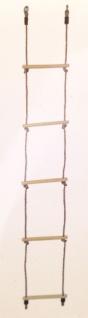 Holz Strickleiter Kletterleiter 5 Sprossen Kinderschaukel Kletterseil Spielturm