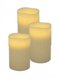 LED-Wachskerzen 3er Set