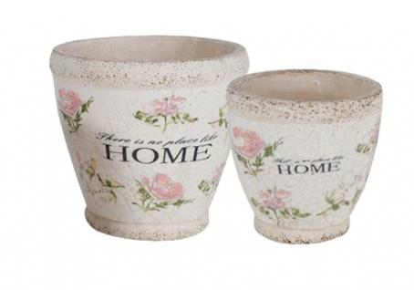 Übertöpfe Home 2er-Set aus Terrakotta Pflanztöpfe Blumentopf Übertopf Gartendeko