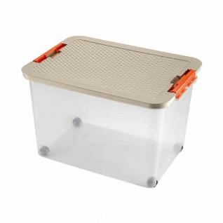 Rollerbox 45l 52x37x34cm + Deckel 2 Stk Box Boxen Aufbewahrung Möbel wohnen TOP