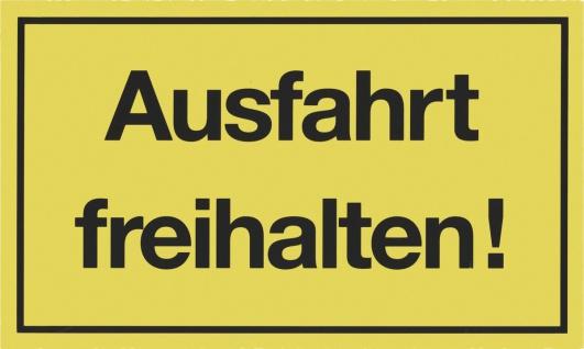 """METAFRANC SCHILD Kennzeichnungsschild ,, Ausfahrt freihalten"""" 500270 Ausfahrt Freihalten"""