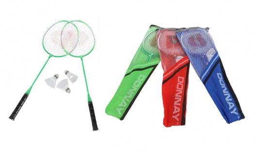 Badminton-Set Federball Schläger Tasche Strand Camping Garten Spiel Federbälle