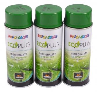 3x 400ml Dupli Color ECOPLUS Lackspray laubgrün Farbspray Sprühlack Sprühdose