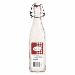 """Bügelflasche """" Swing"""" vierkant 500 ml mit Bügelverschluss"""
