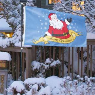 Weihnachtsfahne Merry Christmas 150x90cm Flagge Weihnachtsmann Fahne Garten Deko