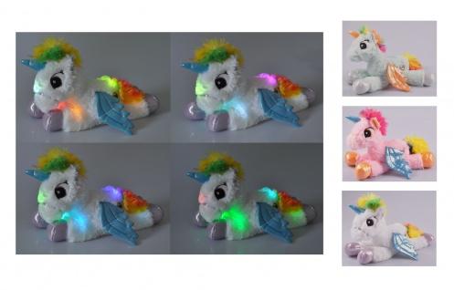 LED Einhorn mit Farbwechsel 30cm Unicorn Kuscheltier Plüschtier Stofftier Kinder