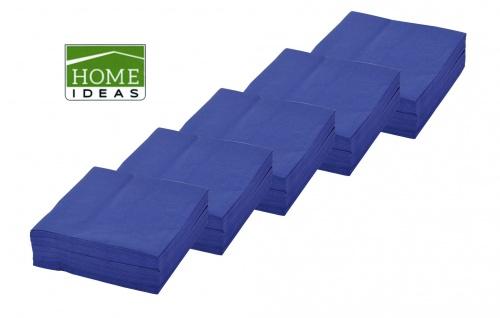 250 Servietten blau 33x33cm 3lagig 1/4 Falz Papierserviette Tischdeko Papiertuch