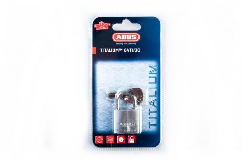 "ABUS HANGSCHLOSS TITALIUM(TM)-Serie ,, 64TI"" 56950 Titalium 64ti/30mm Sb"