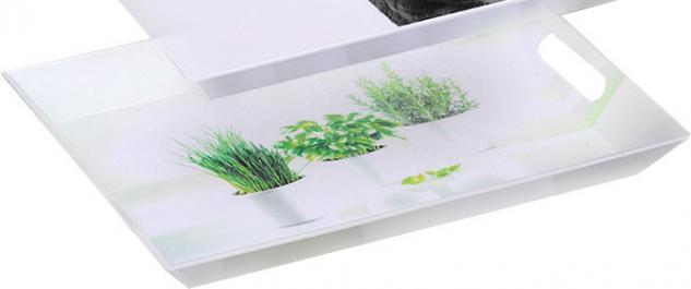 """Emsa Serviertablett ,, Classic"""" 504861 Tablett 50x37 Herbs"""