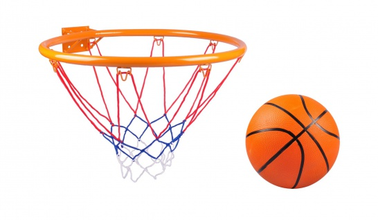 Basketball-Set Basketballkorb Basketballnetz Basketballring Ballpumpe Ball - Vorschau
