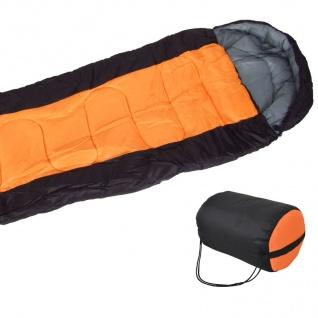 Schlafsack orange Mumienschlafsack Deckenschlafsack Camping Zelten Outdoor