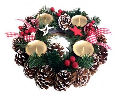 Adventskranz mit Kerzenhalter Weihnachtsgesteck Adventsgesteck Weihnachtsdeko