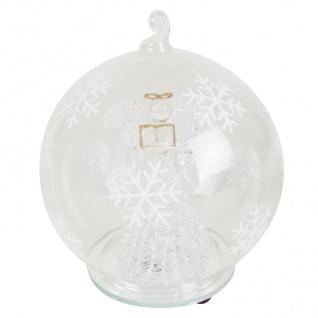 LED-Weihnachtsbaumkugel -Engel- mit Farbwechsler Deko Glaskugel Christbaumkugel - Vorschau 2
