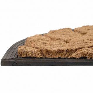 Gummifußmatte Barock halbrund 75x45x2 Schmutzfangmatte Fußmatte Fußabtreter NEU