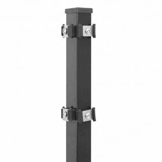 Eckpfosten 1250 mm anthrazit New-System Strebe Zaunpfosten Zaunstrebe Gartenzaun