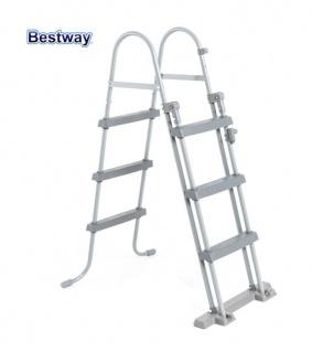Bestway Poolleiter Gartenpool-Einstieg Schwimmbecken Sicherheitsleiter Treppe