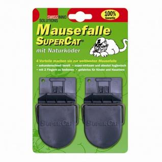 Mausefallen SuperCat 2er Set Karton mit 40 Sets Mausefalle Falle Maus Schutz TOP