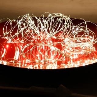 LED-Drahtlichterkette mit Timer 21, 9m 200 Micro-LEDs Warmweiß Lichterkette Deko