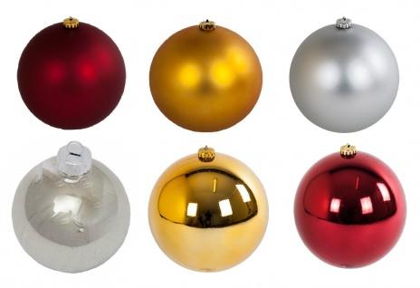 Weihnachtskugel 12cm Christbaumkugeln Weihnachtsbaumschmuck Dekokugel Kunststoff