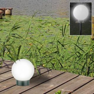 LED Solar Kugelleuchte 3 in 1 Kugellampe Leuchtkugel Gartenkugel Gartenleuchte