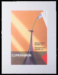 Cliprahmen Bilderrahmen mit PC-Glas 60x80 Rahmenlos Fotorahmen Rahmen