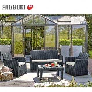 Allibert Lounge Sitzgruppe Merida Graphit Gartenmöbel Gartenset Terrassenmöbel - Vorschau 2