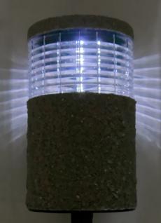 6x LED-Solarlampe Steinoptik 19x11cm Gartenlampe Dekolicht Wegeleuchte Erdspieß - Vorschau 3