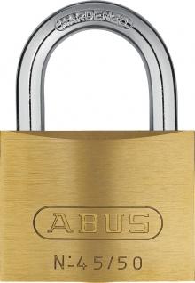 """ABUS ZYLINDER-HANGSCHL.-MESS- Messinghangschloss ,, Serie 45"""" 80615 Nr 45/ 50mm"""