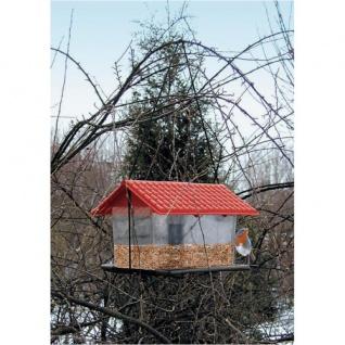 Vogelfutterhaus aus Kunststoff Vogelhaus Futterhaus Vogelhäuschen Futterstation