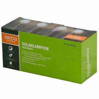 Solar-Lichterkette 10er weiß Gesamtlänge: 4, 8 m, Abstand zwischen den LEDs 20 cm, Zuleitung 3 m, Kabelfarbe: grün