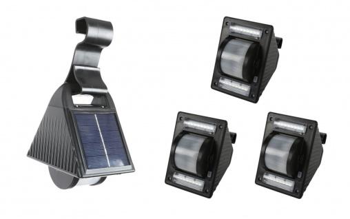 3er-Set Solar Dachrinnenleuchten Solarlampen Zaunleuchte Aussenlampe Gartenlicht