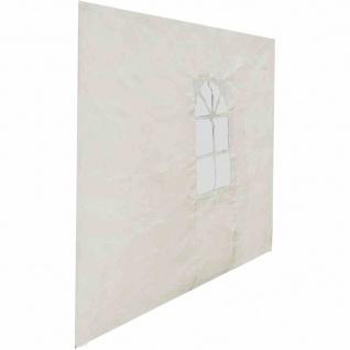 Seitenteil mit Fenster zu Pavillon Sahara 3x3 m, weiß Bezug aus Polyethylen 110g/m² in weiß, 1 Stück