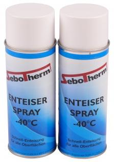 2x 400 ml Auto Enteiserspray Scheibenenteiser -40 °C Schnell Enteisung Spray