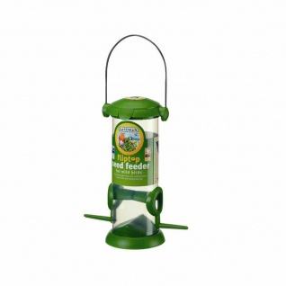 Kunststoff-Vogelfutterstation mit Deckel, 2 Plätze