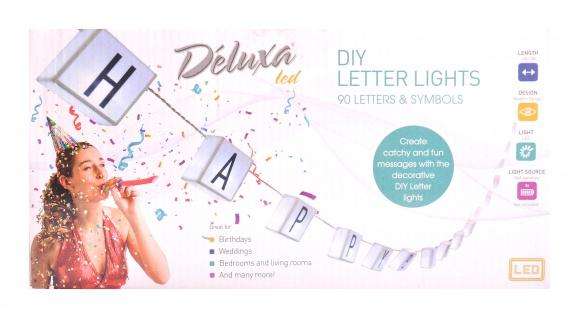 LED Buchstaben-Lichterkette 20 Kästchen 4m Girlande Partybeleuchtung Dekolicht
